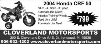 2004 Honda CRF 50