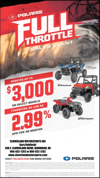Polaris Full Throttle Sales Event
