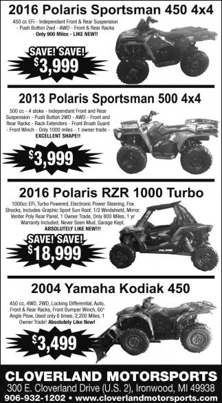 Polaris, Yamaha