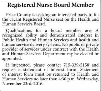 Registered Nurse Board Member