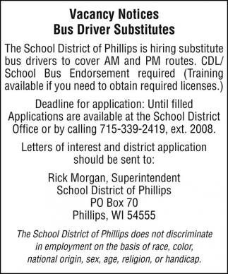 Bus Driver Substitutes