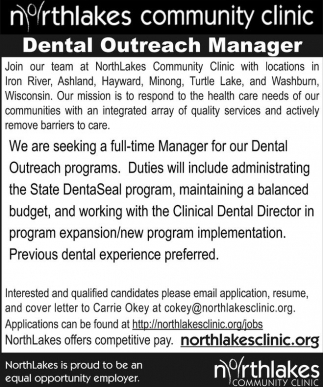 Dental Outreach Manager
