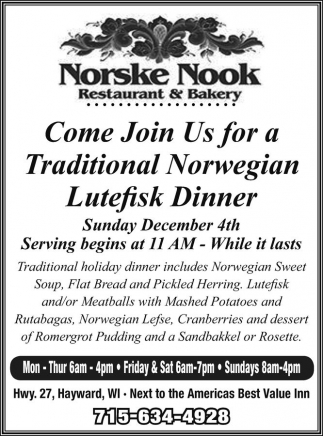 Lutefisk Dinner