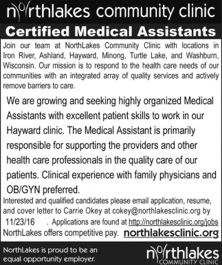 Certified Medical Assistants
