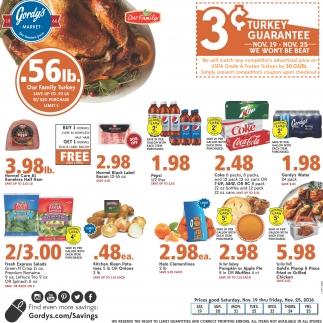 3¢ turkey guarantee