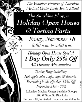 The Sunshine Shoppe Holiday Open House and Tasting Party