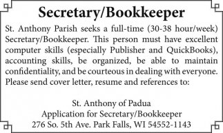 Secretary / Bookkeeper