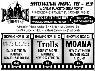 SHOWING NOV. 18 - 23