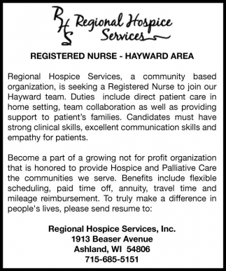 REGISTERED NURSE - HAYWARD AREA