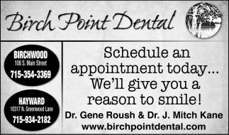 Schedule an appointment today... We'll give you a reason to smile!
