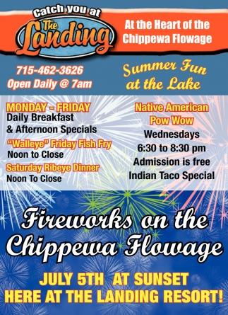 Fireworks on the Chippewa Flowage