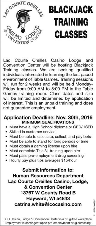 Blackjack Training Classes