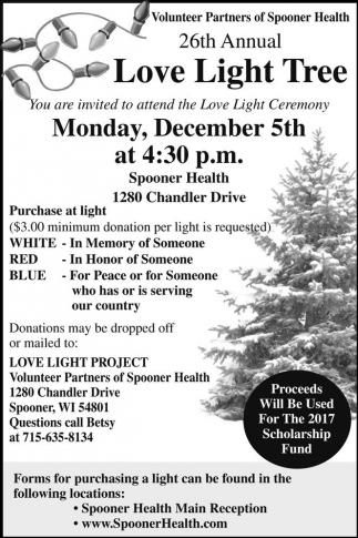 26th Annual Love Light Tree