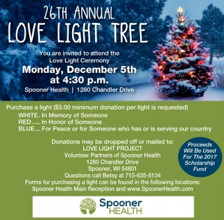 26th Annual Love Light Tree
