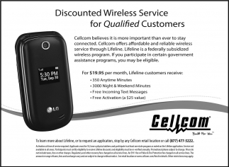 Discount Wireless Service for Qualified Customers