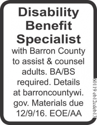 Disability Benefit Specialist