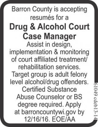 Drug & Alcohol Court Case Manager