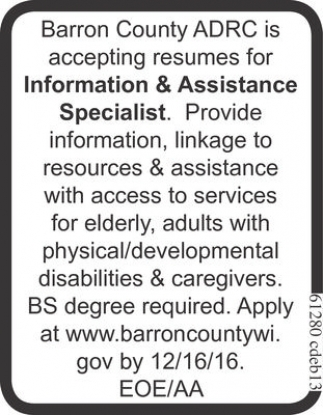 Information & Assistance Specialist