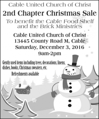 2nd Chapter Christmas Sale