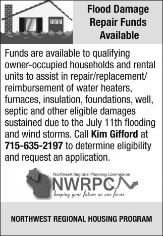 Flood Damage Repair Funds Available