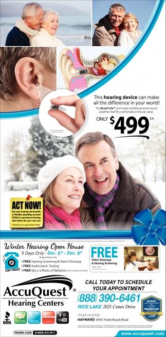 Winter Hearing Open House