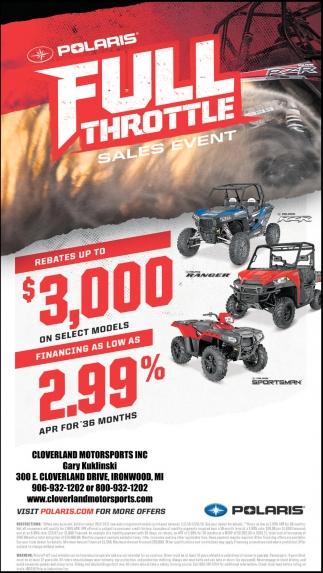 Polaris Full Throttle, Cloverland Motorsports, Ironwood, MI