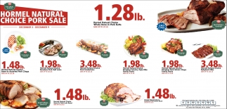 Hormel Natural Choice Pork Sale