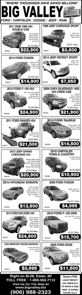Ford, Chrysler, Dodge, Jeep, Ram