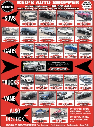 Suvs, Cars, Trucks, Vans