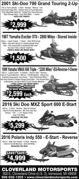 Ski-Doo, Yamaha, Polaris
