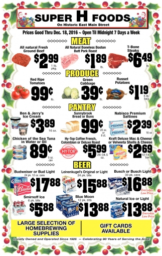 Prices Good Thru Dec. 18, 2016