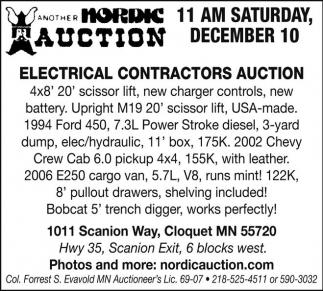 Electrical Contractors Auction