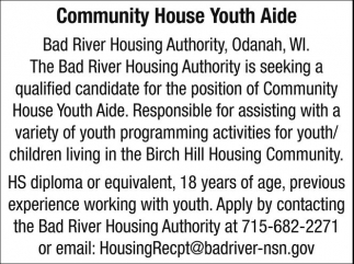 Community House Youth Aide