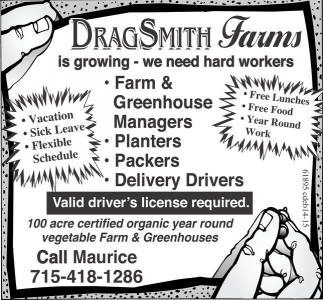 Packers, Planters, Harvesters, Drivers