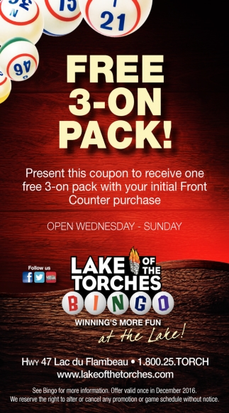 Free 3 - on Pack