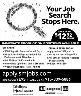 Your Job Search Stops Here