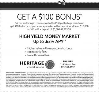 Get a $100 Bonus