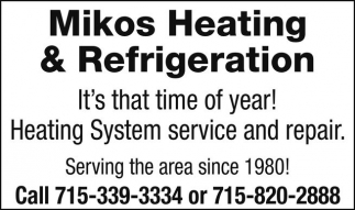 Heating System service and repair