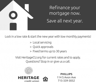 Refinance your mortgage now