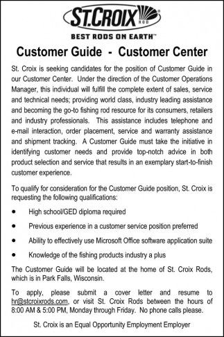 Customer Guide - Customer Center