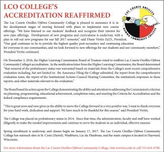 Accreditation Reaffirmed