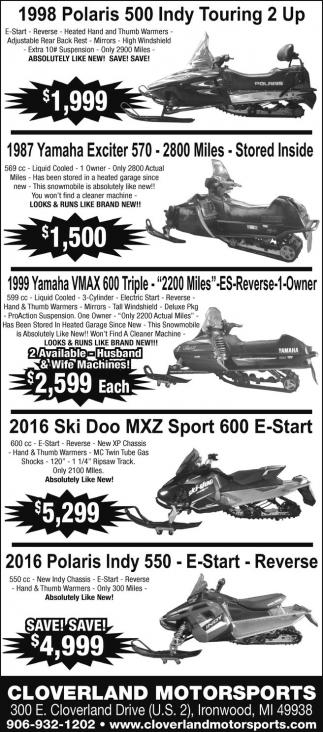 Polaris,Yamaha, Ski Doo