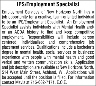 IPS/Employment Specialist