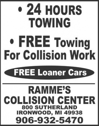Free towing for collision work