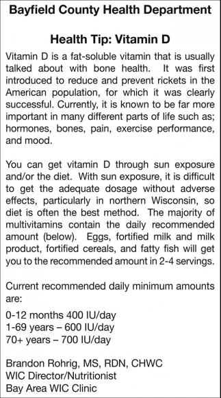 Health Tip: Vitamin D