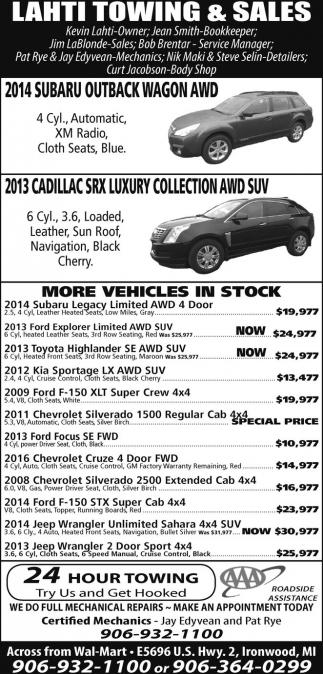 Subaru, Cadillac