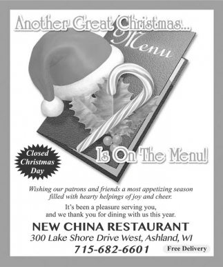 Another Great Christmas Is On The Menu New China
