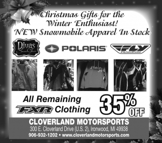 All Remaining FXR Clothing 35% Off