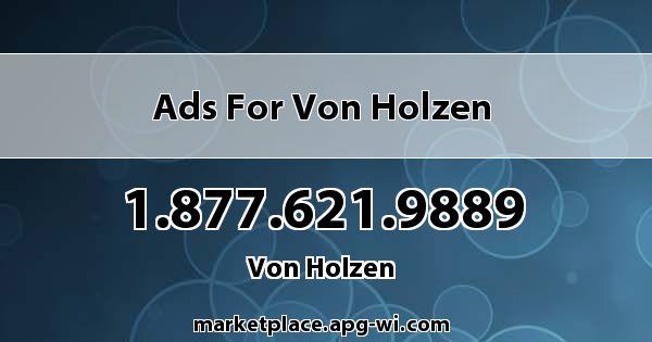 Ads for Von Holzen